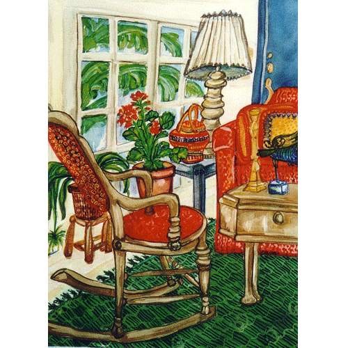 09 Silk Old House Living Room Artwork