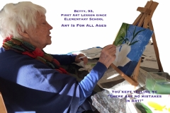 1st Time Fine Artist at 93